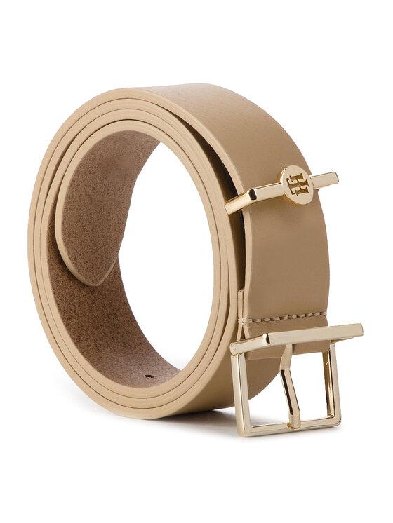 Tommy Hilfiger Tommy Hilfiger Dámský pásek Th Dressy Belt 3.0 AW0AW06555 Béžová