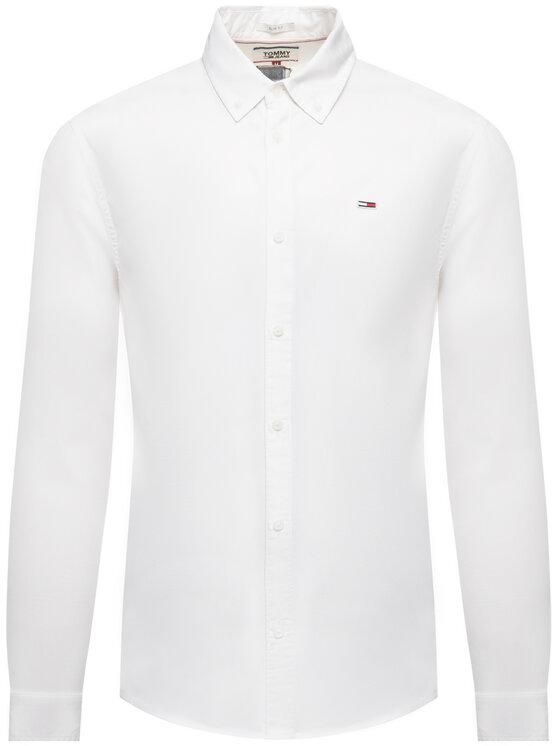 Tommy Jeans Tommy Jeans Πουκάμισο Tjw Light Twill DM0DM07504 Λευκό Slim Fit