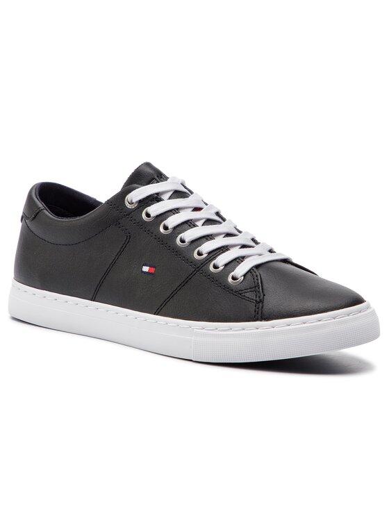 Tommy Hilfiger Tommy Hilfiger Sneakers Essential Leather Sneaker FM0FM02203 Schwarz