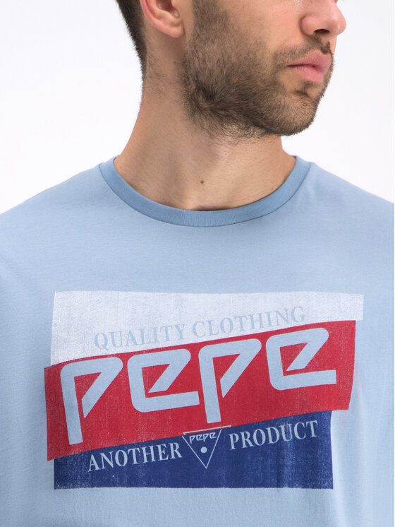 Pepe Jeans Pepe Jeans T-shirt Dominik PM506545 Bleu Regular Fit