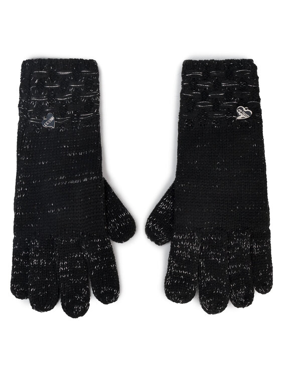 Guess Guess Damenhandschuhe Not Coordinated Gloves AW8199 WOL02 Schwarz