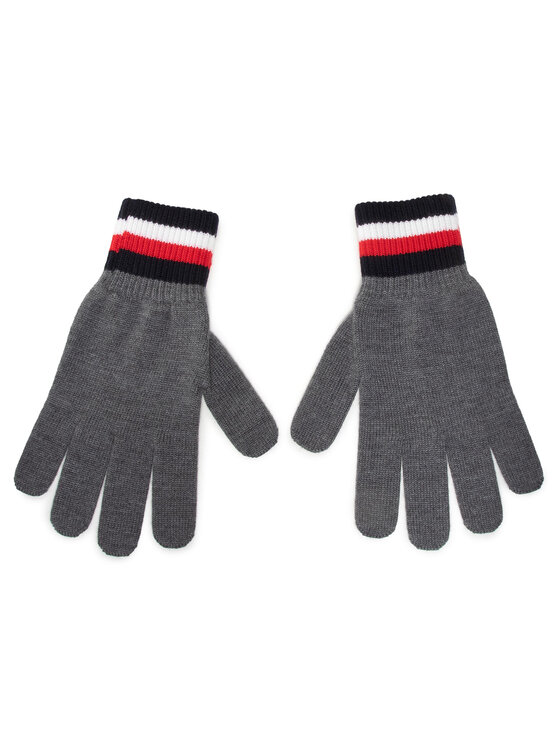 Tommy Hilfiger Tommy Hilfiger Rękawiczki Męskie Corporate Gloves AM0AM06586 Szary