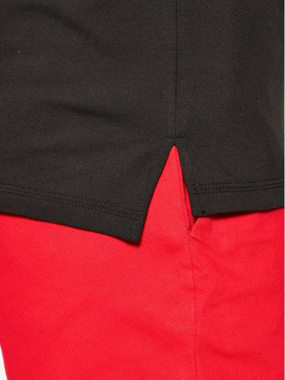 Hugo Hugo Тениска с яка и копчета Dinoso202 50425770 Черен Slim Fit