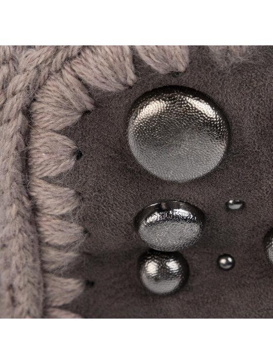 Mou Mou Buty Eskimo 24 Back Studs FW101008A Szary