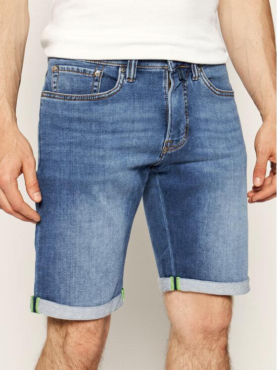 Pierre Cardin Džinsiniai šortai 3033/6100 Tamsiai mėlyna Regular Fit