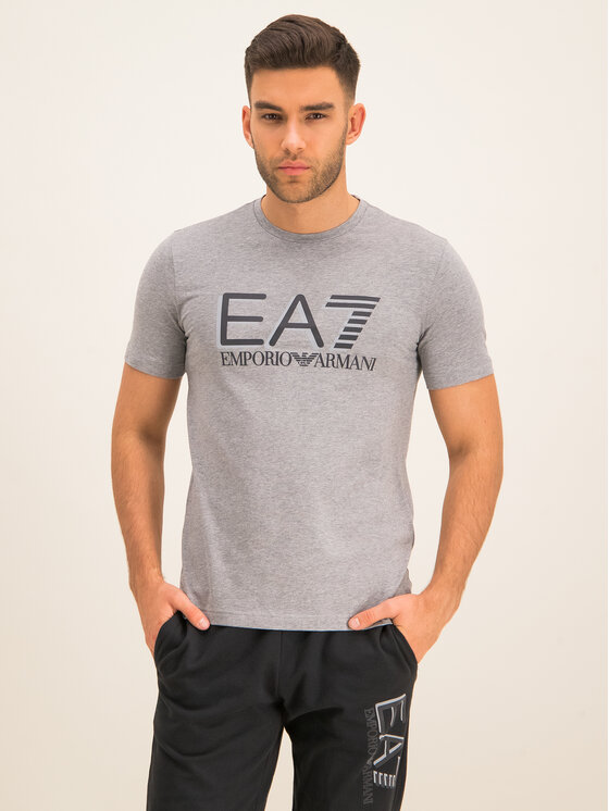 EA7 Emporio Armani EA7 Emporio Armani T-Shirt 3HPT62 PJ03Z 3905 Szary Slim Fit