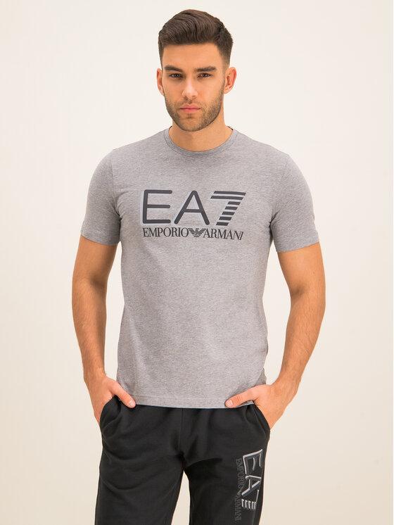EA7 Emporio Armani EA7 Emporio Armani Tričko 3HPT62 PJ03Z 3905 Sivá Slim Fit