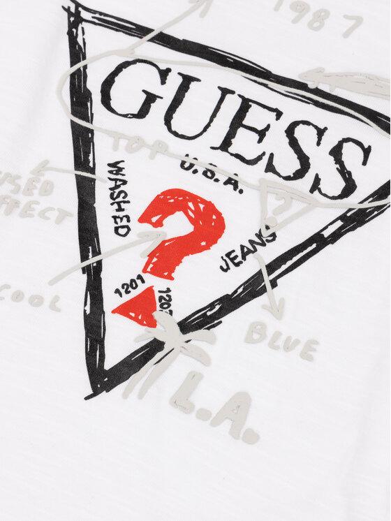 Guess Guess Bluzka N93I11 K8660 Biały Regular Fit