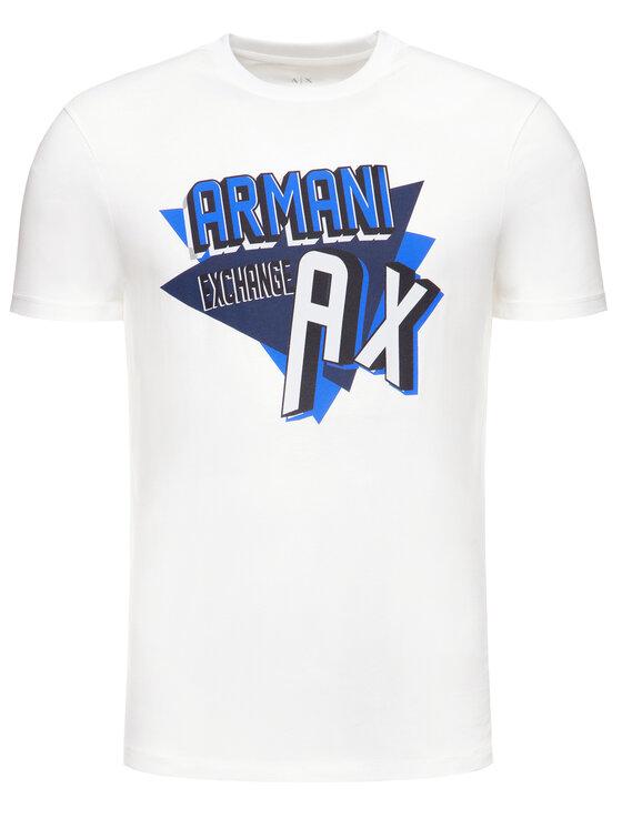 Armani Exchange Armani Exchange T-Shirt 3HZTHM ZJ5EZ 1100 Biały Regular Fit