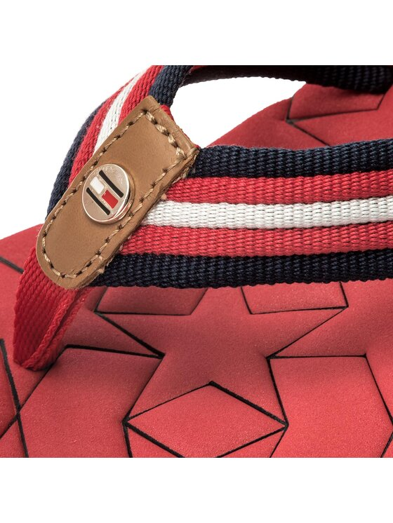 Tommy Hilfiger Tommy Hilfiger Zehentrenner Comfort Mid Beach Sandal FW0FW02367 Rot