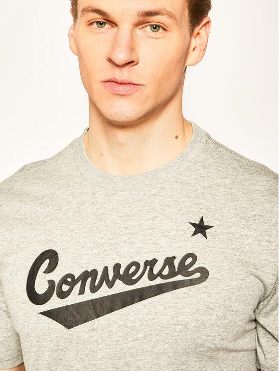 Converse Converse T-Shirt Center Front Logo 10018235-A04 Šedá Regular Fit