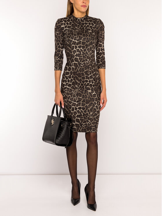 Guess Guess Coctailkleid W94K73 WC690 Braun Slim Fit