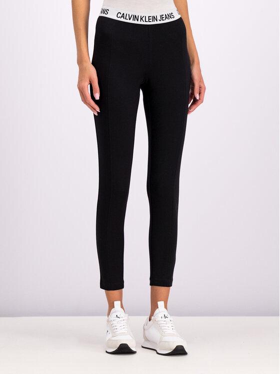 Calvin Klein Jeans Calvin Klein Jeans Leggings Milano J20J212177 Fekete Slim Fit