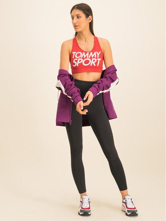 Tommy Sport Biustonosz top Sports Bra Logo S10S100344 Czerwony