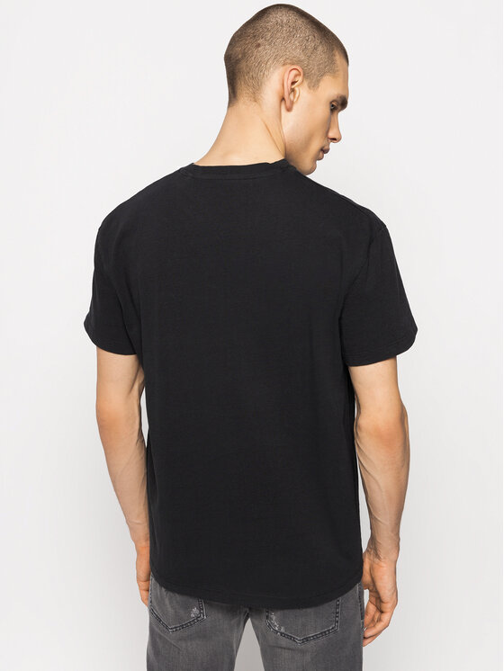 Pepe Jeans Pepe Jeans T-Shirt Burry PM506919 Czarny Loose Fit
