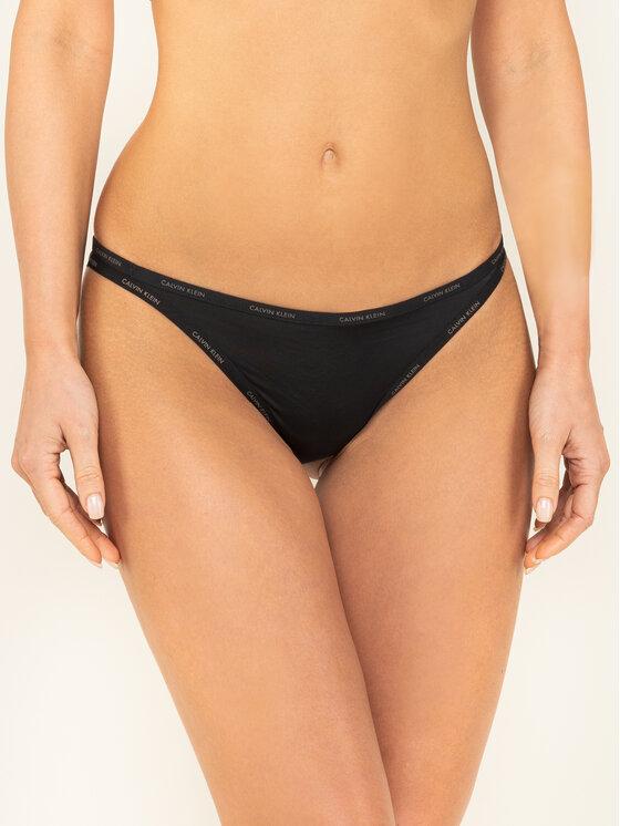 Calvin Klein Underwear Calvin Klein Underwear Stringi Youthful Lingerie 000QF4529E Czarny
