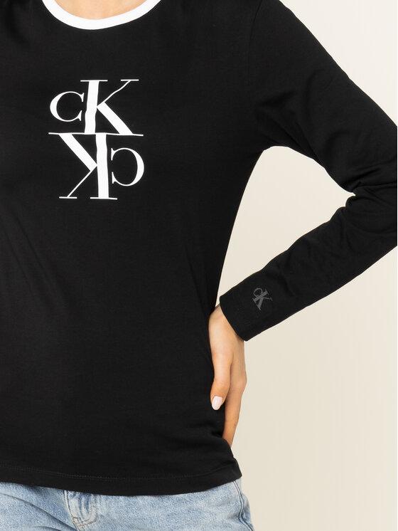 Calvin Klein Jeans Calvin Klein Jeans Bluse J20J213067 Schwarz Regular Fit