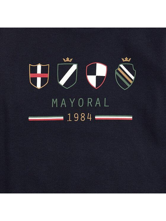 Mayoral Mayoral Dres 4813 Granatowy Regular Fit