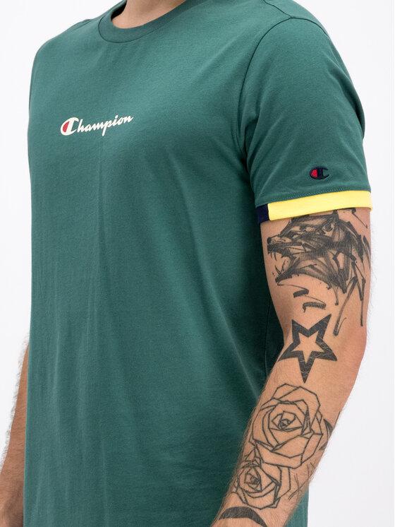 Champion Champion Marškinėliai 212791 Žalia Comfort Fit