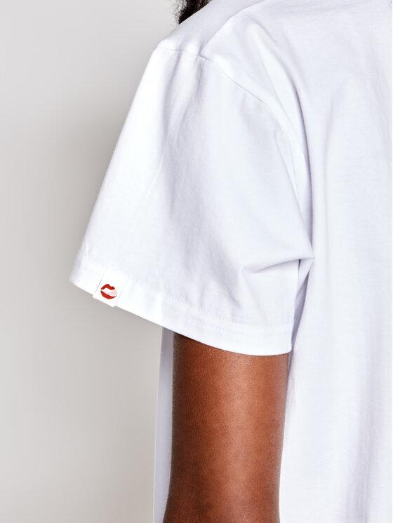 PLNY LALA PLNY LALA T-Shirt Friends PL-TH-VN-00002 Biały Regular Fit