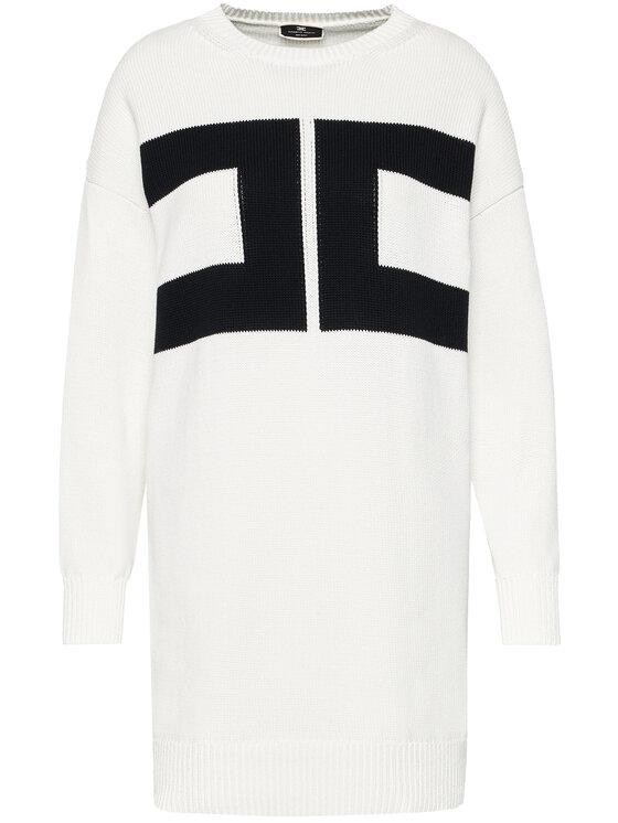 Elisabetta Franchi Elisabetta Franchi Úpletové šaty AM-95T-11E2-V300 Bílá Regular Fit