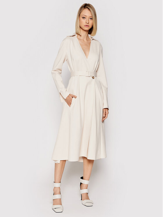 Liviana Conti Kasdieninė suknelė F1WI23 Smėlio Regular Fit