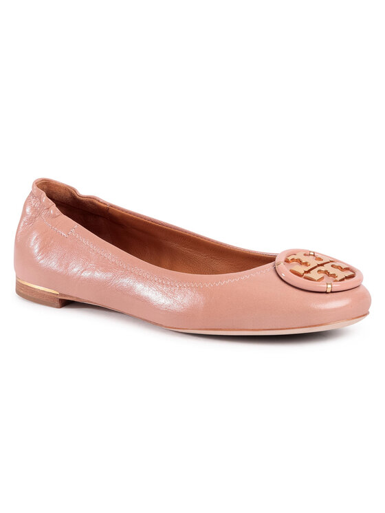 Balerini dama Tory Burch Multi Logo Elastic Ballet 82218 roz