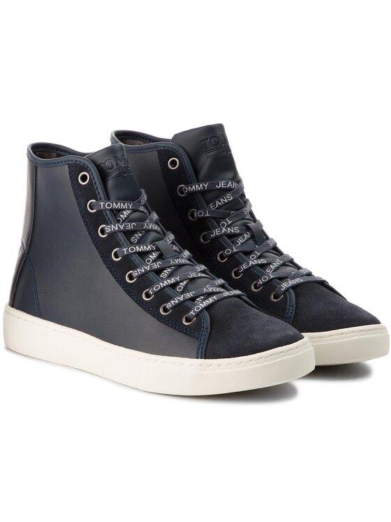 Tommy Jeans Tommy Jeans Laisvalaikio batai Light Sneaker Mid EM0EM00125 Tamsiai mėlyna
