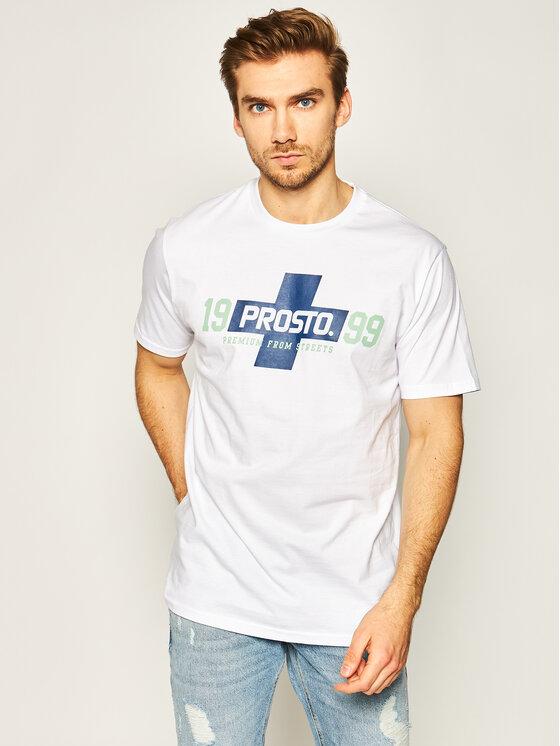 PROSTO. Marškinėliai KLASYK Clicka 8611 Balta Regular Fit