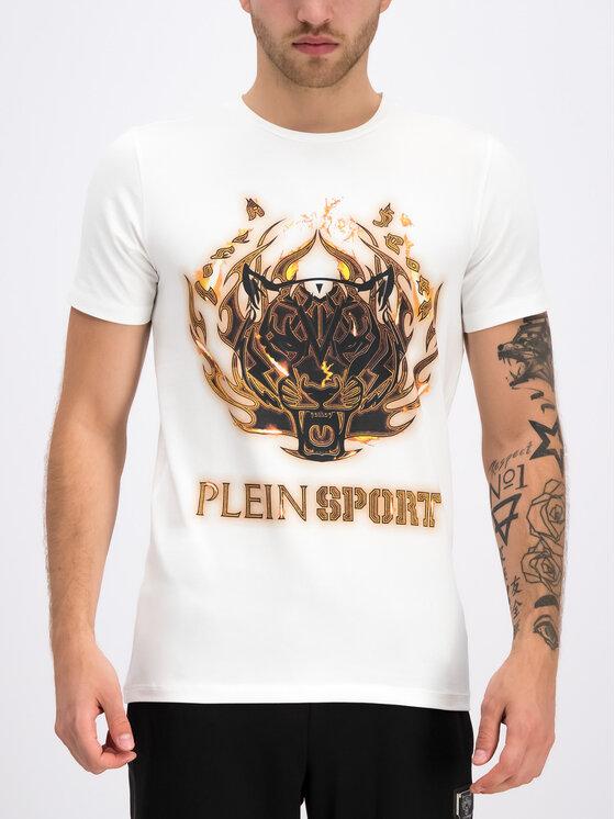 Plein Sport Plein Sport T-Shirt F19C MTK3710 SJY001N Λευκό Regular Fit