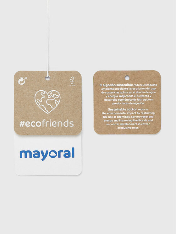 Mayoral Mayoral Bluzka 4013 Biały Regular Fit