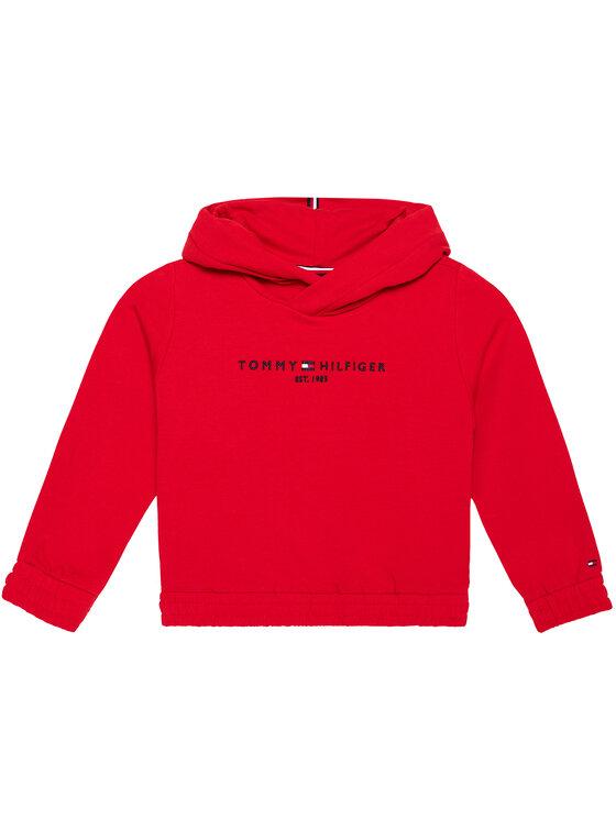 Tommy Hilfiger Tommy Hilfiger Bluza Essential KG0KG05216 M Czerwony Regular Fit