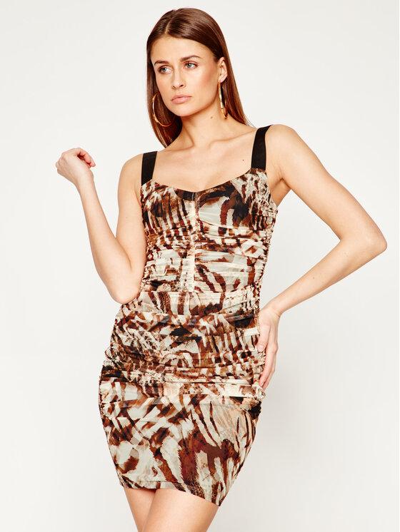 Marciano Guess Kokteilinė suknelė Sandscape 02G724 6875Z Ruda Slim Fit
