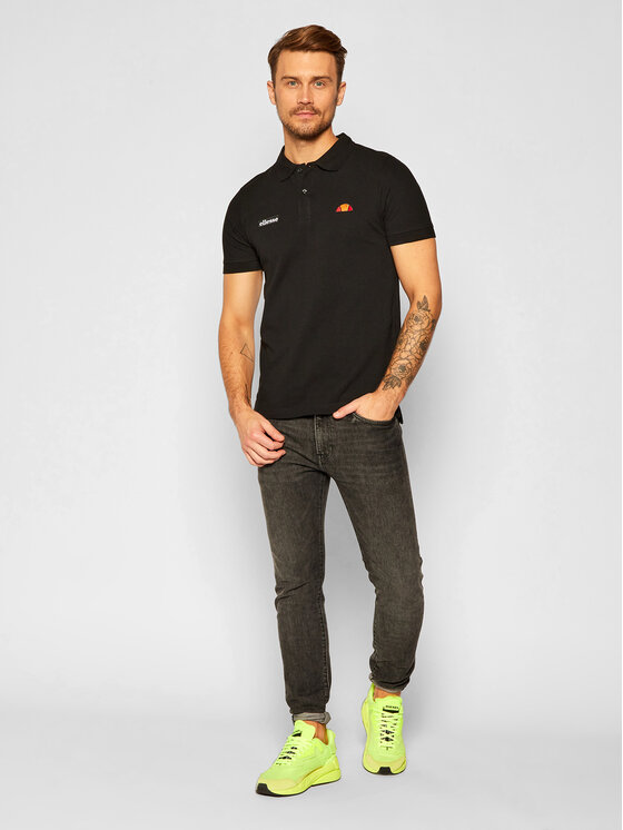Ellesse Ellesse Polo Montura SHS04475 Czarny Regular Fit