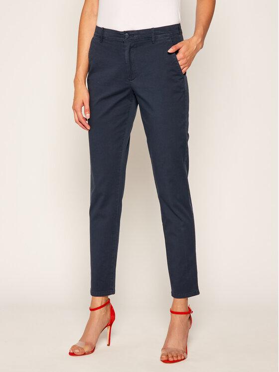 Tommy Jeans Tommy Jeans Pantaloni chino Garment Dyed DW0DW06837 Bleumarin Slim Fit