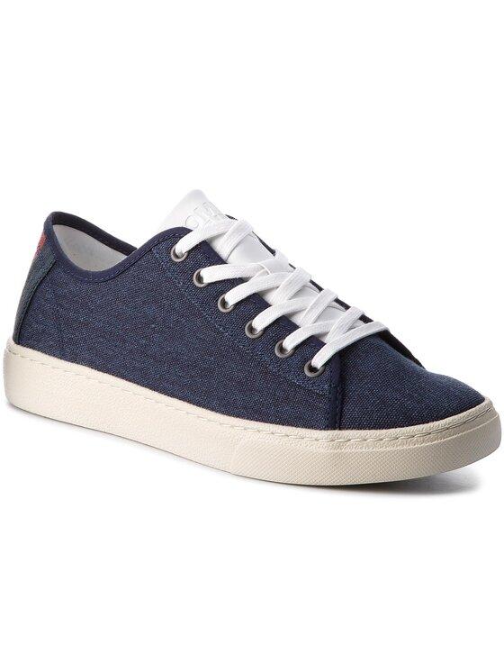 Tommy Jeans Tommy Jeans Tenisówki Light Textile Low EM0EM00102 Granatowy