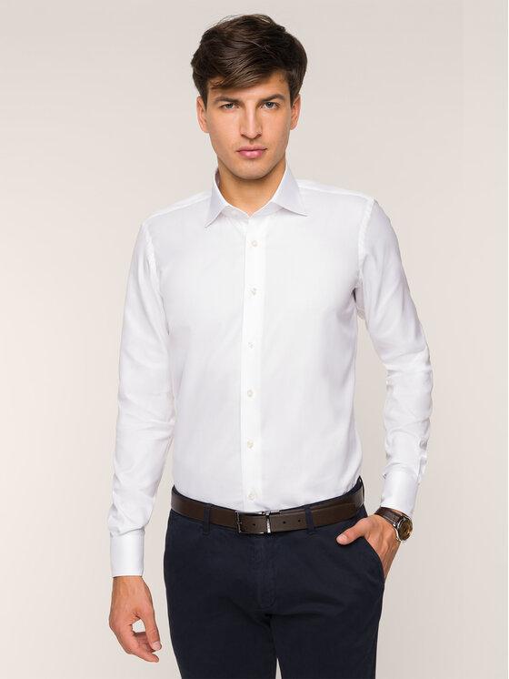 Emanuel Berg Marškiniai MCR37 Balta Slim Fit