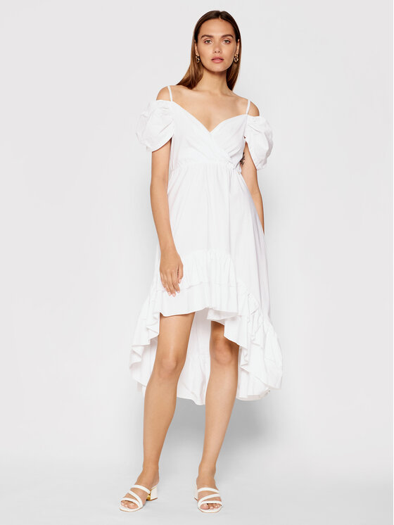 Rinascimento Kokteilinė suknelė CFC0103591003 Balta Regular Fit