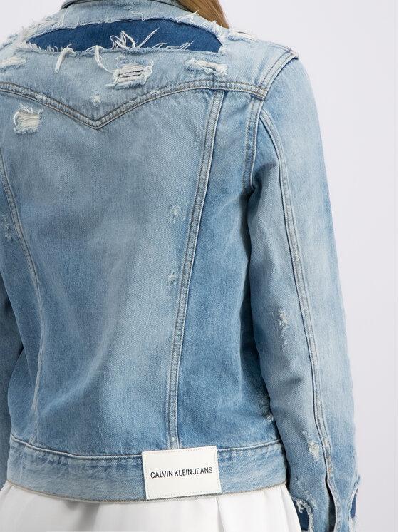 Calvin Klein Jeans Calvin Klein Jeans Jeansová bunda J20J211453 Modrá Regular Fit