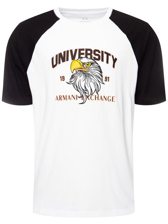 Armani Exchange Armani Exchange T-Shirt 3HZTFD ZJH4Z 2181 Biały Loose Fit