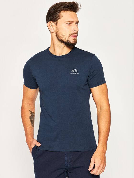 La Martina Marškinėliai CCMR02 JS206 Tamsiai mėlyna Regular Fit
