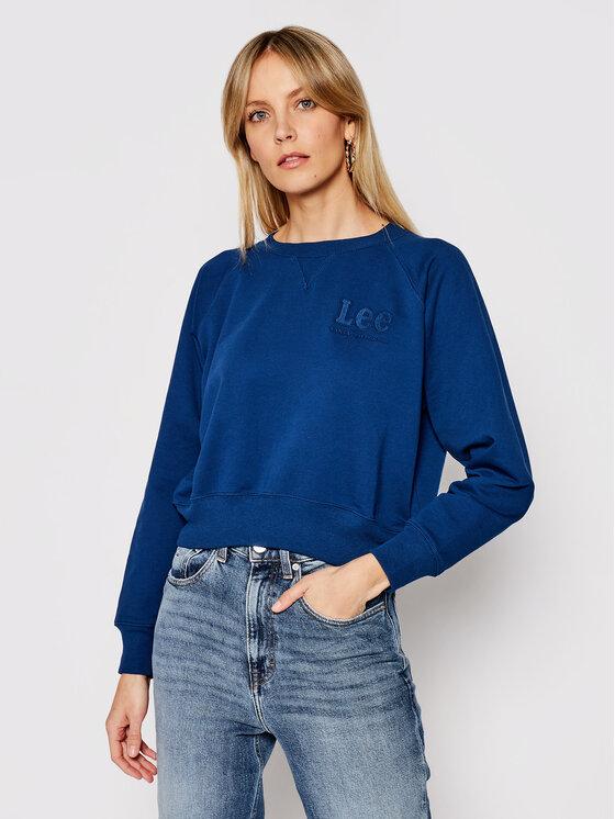 Lee Džemperis Vintage L36EBRLR Tamsiai mėlyna Regular Fit