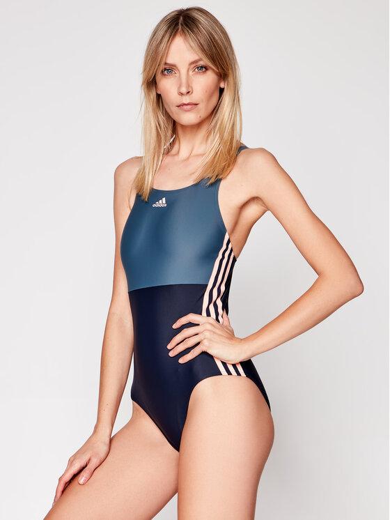 adidas Maudymosi kostiumėlis Sh3.Ro 3-Stripes FS3950 Tamsiai mėlyna