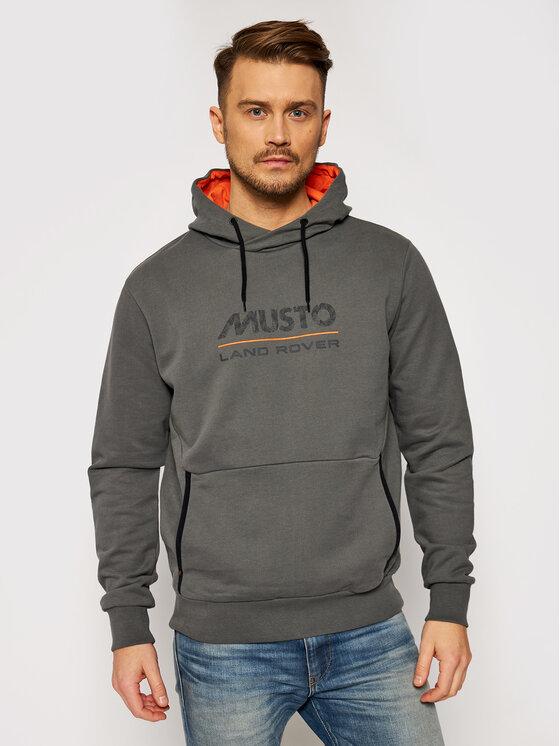 Musto Džemperis Logo 84006 Pilka Regular Fit