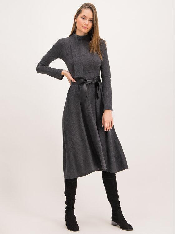 MAX&Co. MAX&Co. Sukienka dzianinowa Drenare 66249119 Szary Regular Fit
