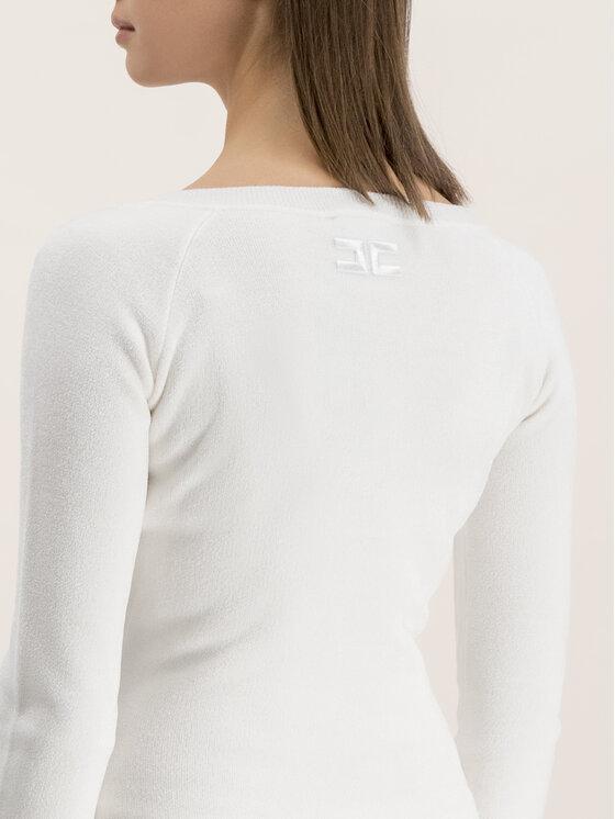 Elisabetta Franchi Elisabetta Franchi Úpletové šaty AM-35S 96E2-V269 Biela Slim Fit