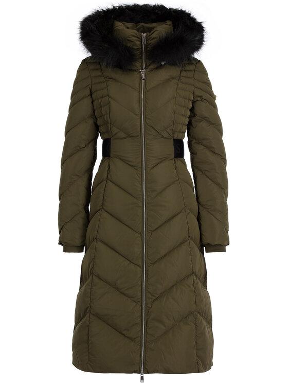 Guess Guess Płaszcz zimowy W94L83 W94G0 Zielony Slim Fit