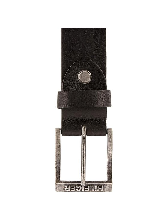 Tommy Hilfiger Tommy Hilfiger Curea pentru Bărbați DENIM Thd Grain Belt 4.0 Adj AM0AM02127 90 Negru