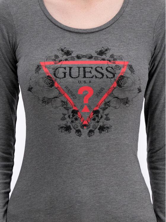 Guess Guess Bluzka Roses W93I90 J1300 Szary Slim Fit