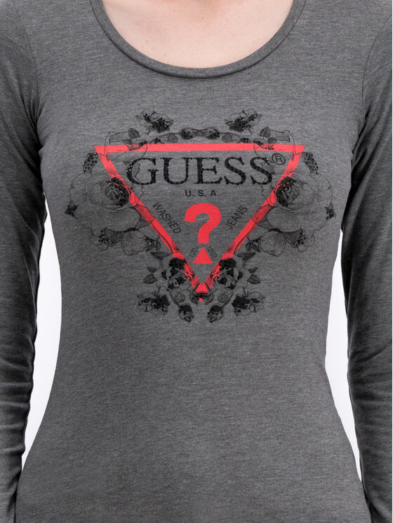 Guess Guess Chemisier Roses W93I90 J1300 Gris Slim Fit